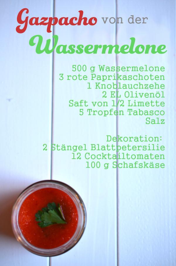 Rezept für Gazpacho mit Wassermelone