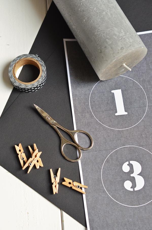 DIY: Anleitung für Adventskranz ohne Tannengrün und mit Zahlen-Kerzen