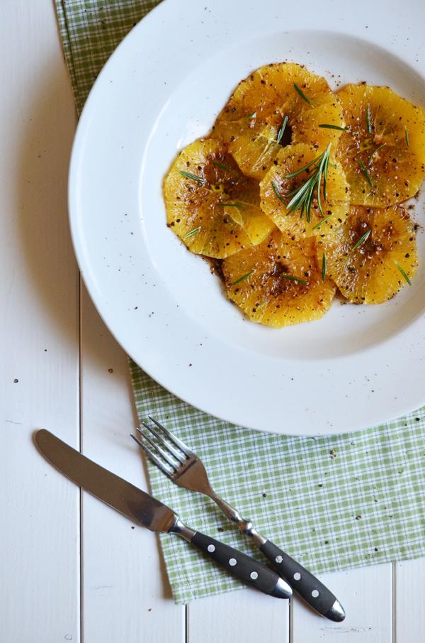 Orangen-Carpaccio - das schmeckt auch Vegetariern)