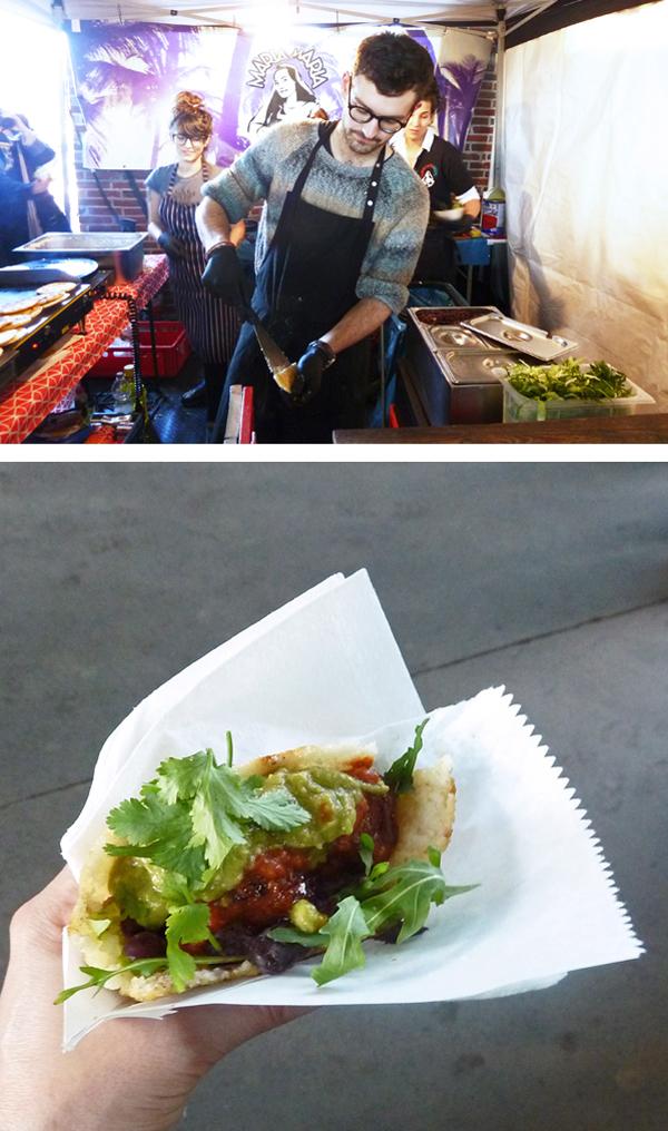 Teigtaschen mit Merguez beim DÜsseldorfer Street Food Festival