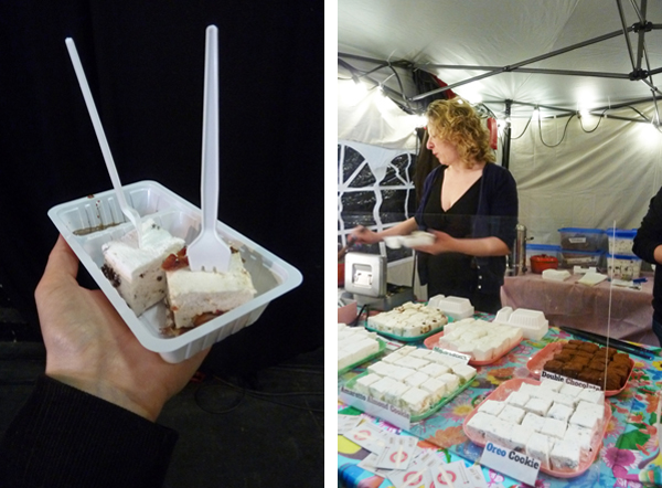 Marshmellow mit Speck beim Düsseldorfer Strett Food Festival
