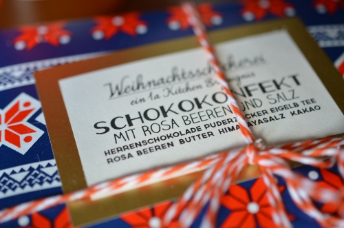 Post aus meiner Küche: Schokokonfekt
