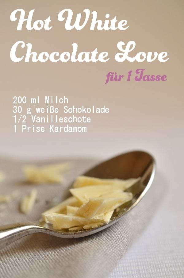Rezept für heiße, weiße Schokolade