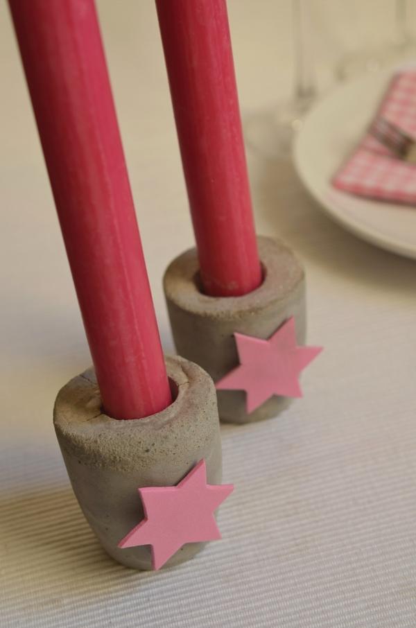 Kerzenständer aus Blitzzement