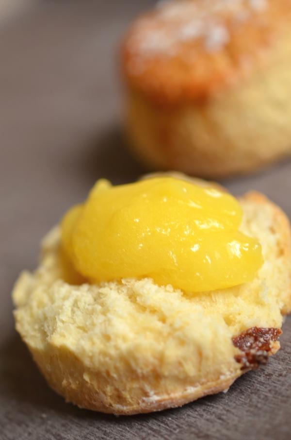 Lemon Curd selbstgemacht auf Scones