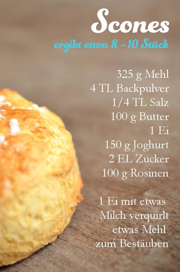 Rezept für Scones: Zutaten