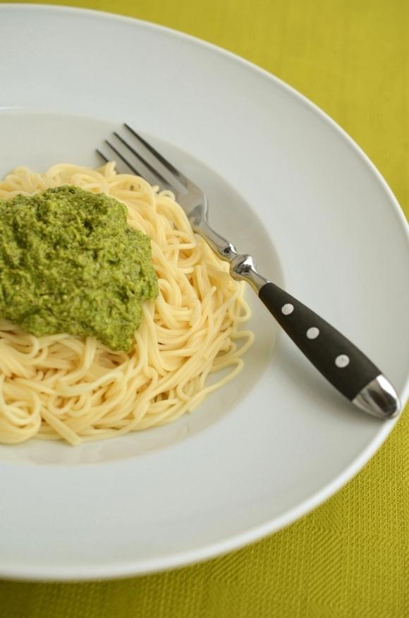 Rezept für Spaghetti mit Rucola-Haselnusspesto – Foto 1