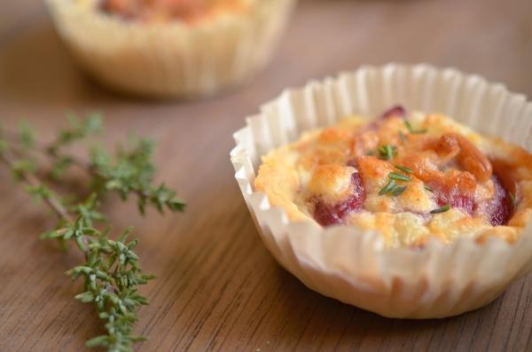 Rezept für Fingerfood - Miniquiches mit Roten Zwiebeln und Ziegenkäse