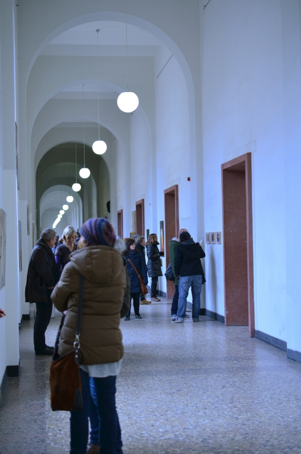 Publikum in der Düsseldorfer Kunstakademie