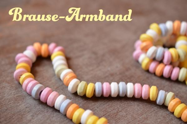 Kindheitserinnerungen: Armband aus Brausebonbons aus dem Tante-Emma-Süßwarenladen