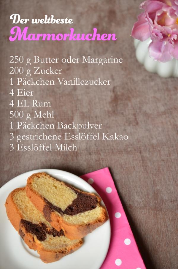 Rezept für den besten Marmorkuchen der Welt