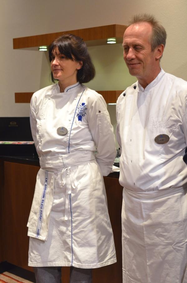 Hotel Nikko Düsseldorf: Patissier LAlbert Nitz nd seine Praktikantin Stefanie Heinz