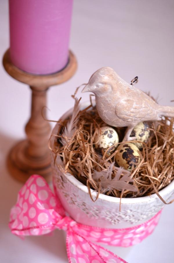DIY: Schnelle Frühlungsdeko mit Vogelnest