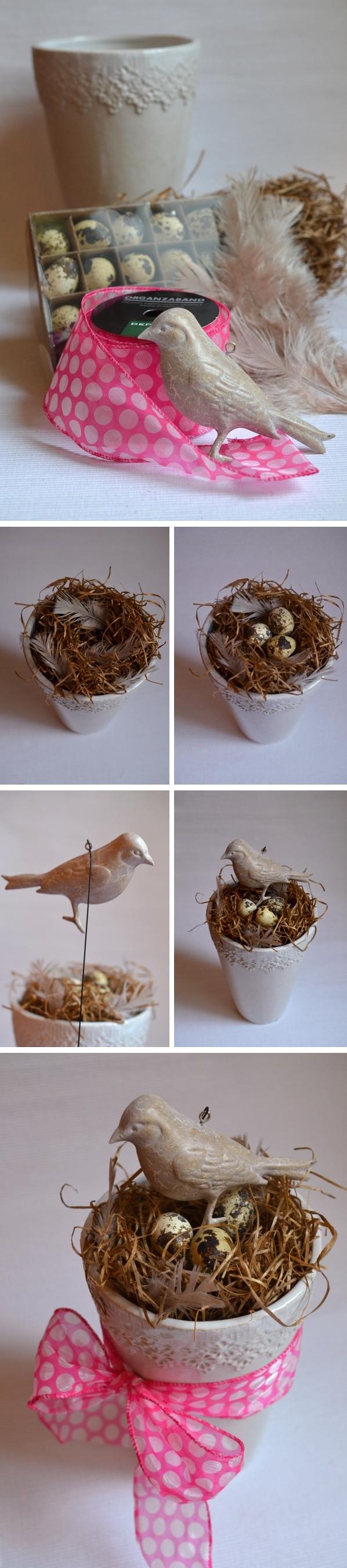 DIY: Anleitung für schnelle Frühlingsdeko mit Vogelnest