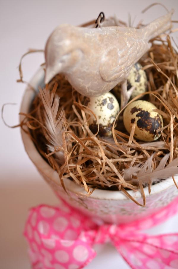 DIY: Schnelle Frühlingsdeko mit Vogelnest 3
