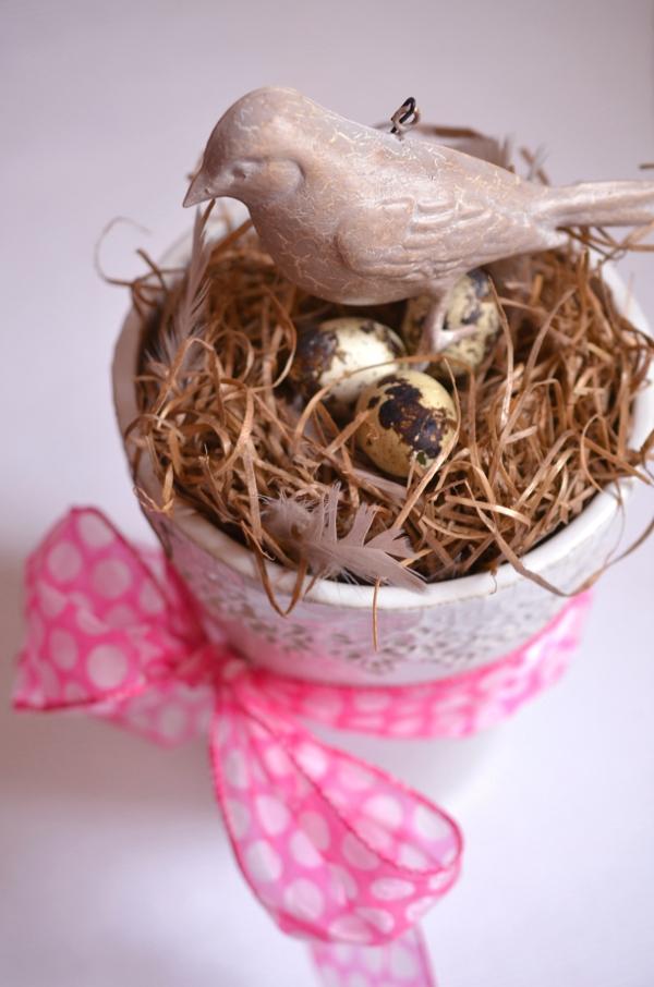 DIY: Schnelle Frühlingsdeko mit Vogelnest 5