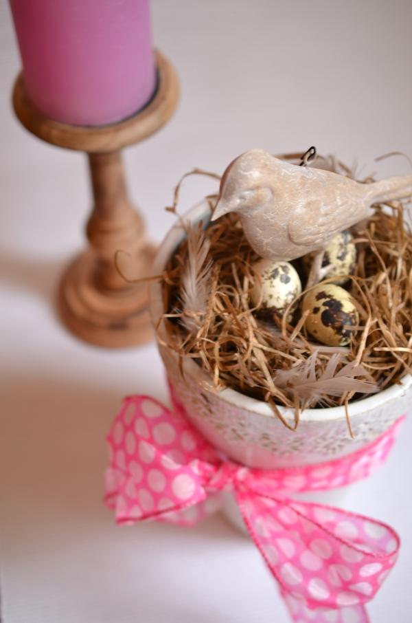 DIY: Schnelle Frühlingsdeko mit Vogelnest 6