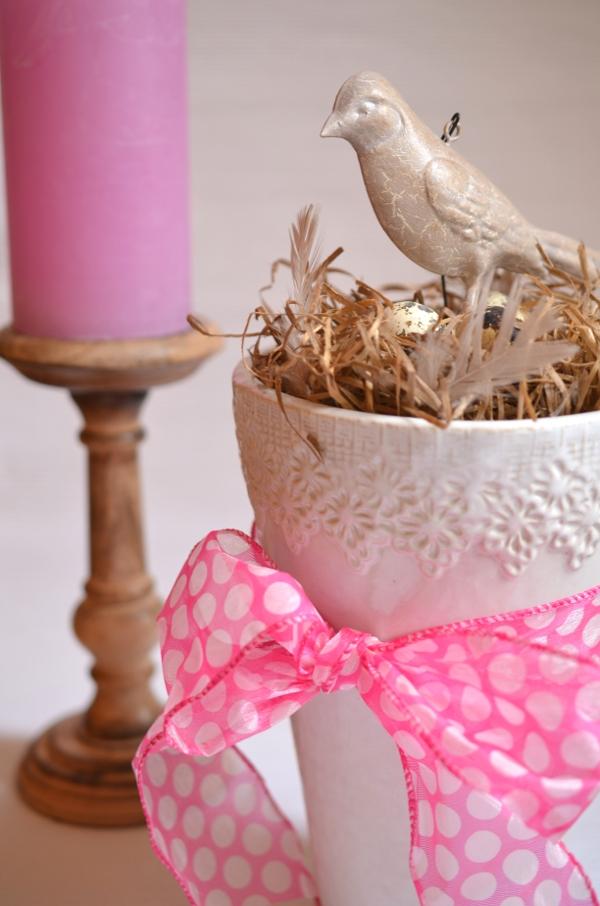DIY: Schnelle Frühlingsdeko mit Vogelnest 7