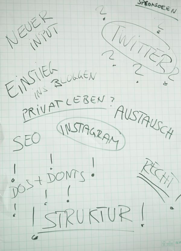 Themen des Bloggerworkshop bligst in Köln - Bloggen mit Pot(t)ential