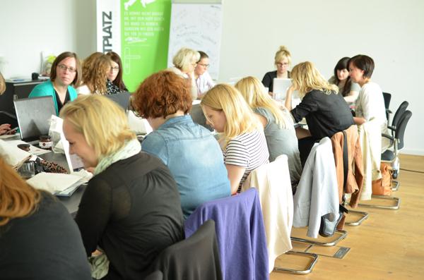 Bloggerworkshop blogst in Köln: Die Blogger bei der Arbeit