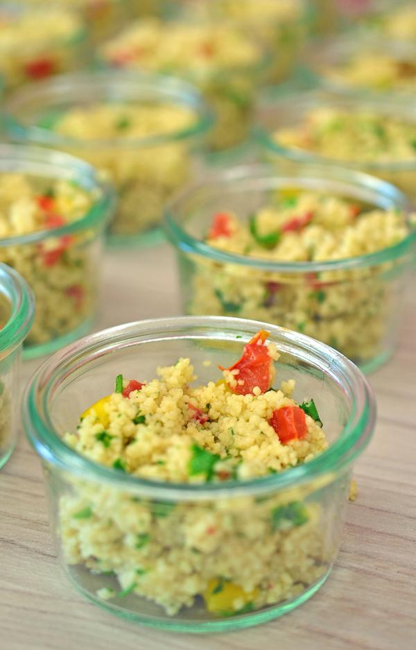 Couscous-Salat beim blogst Bloggerworkshop in Köln