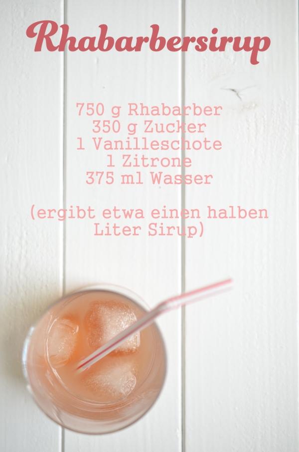 Rezept für Rhabarbersirup