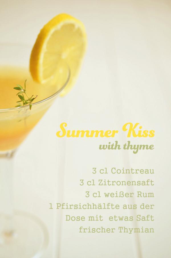 Cocktail-Rezept: Summer Kiss mit Pfirsich und Thymian