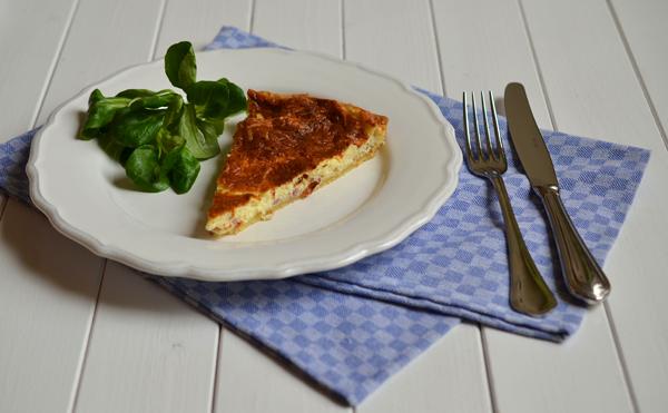 Quiche Lorraine  mit Feldsalat - für Freunde, auf Parties oder beim PicknickA