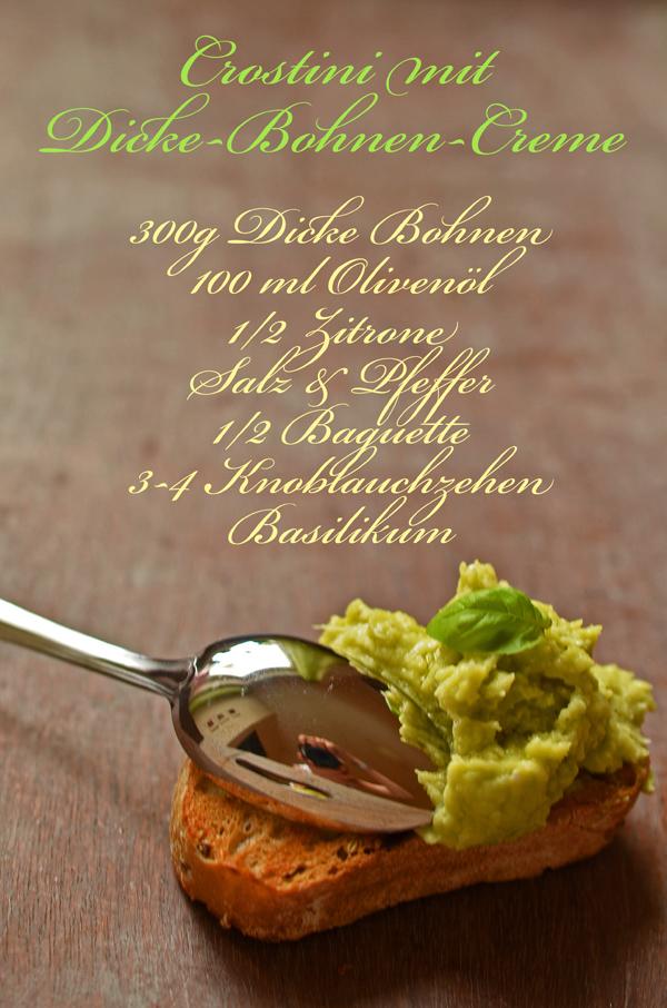 Rezept für Crostini mit Dicke-Bohnen-Creme