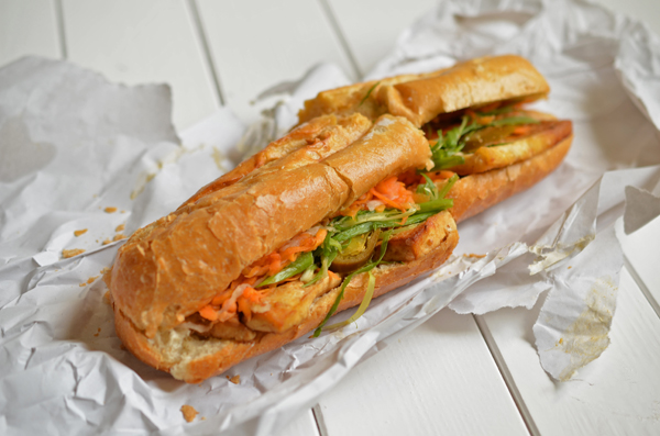 Vietnamesisches Sandwich im An Banh Mi