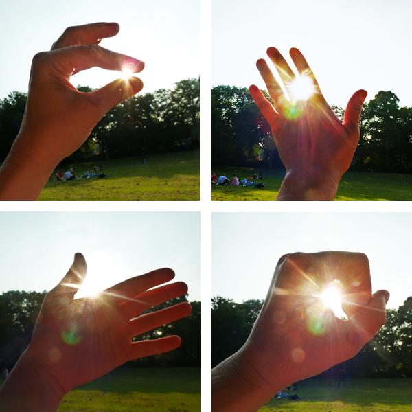 Schattenspiele an einem Sommernachmittag: Die Sonne im Park einfangen