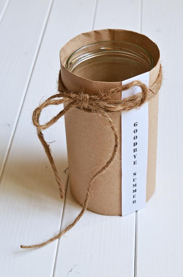 DIY: Fertige selbstgemachte Vase