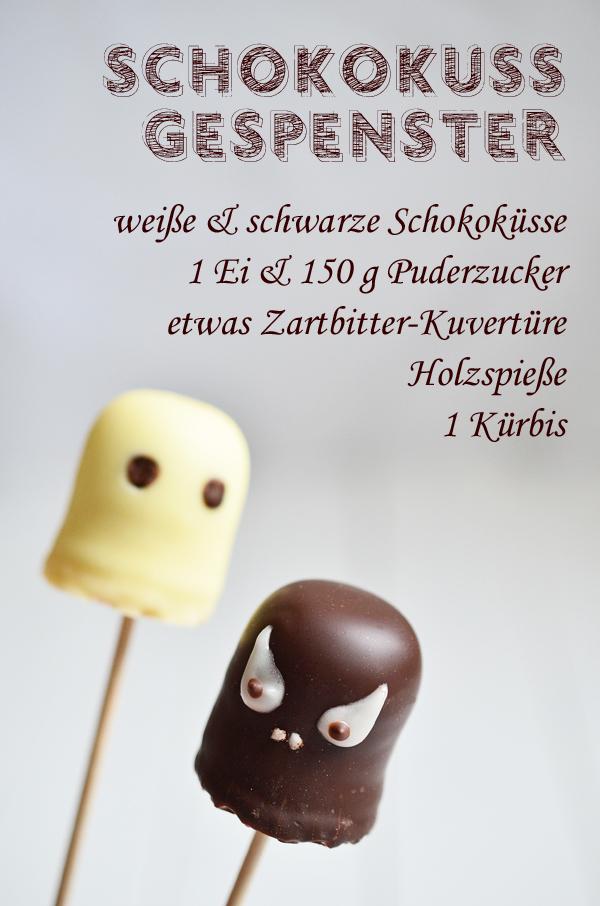 Halloween-Rezept für Gespenster und Monster aus Schokoküssen