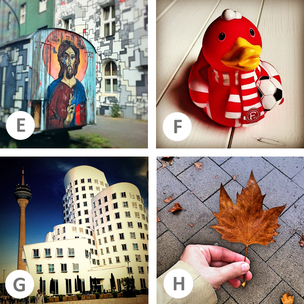 Düsseldorf im Instagram-ABC auf (rh)eintopf - E-H