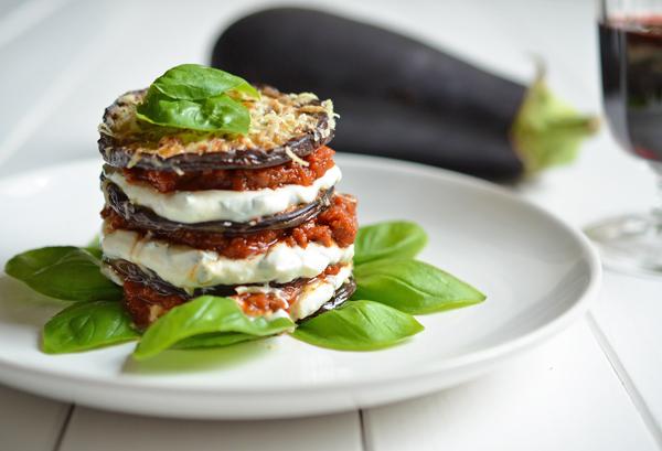 Auberginen-Lasagne ganz ohne Pasta