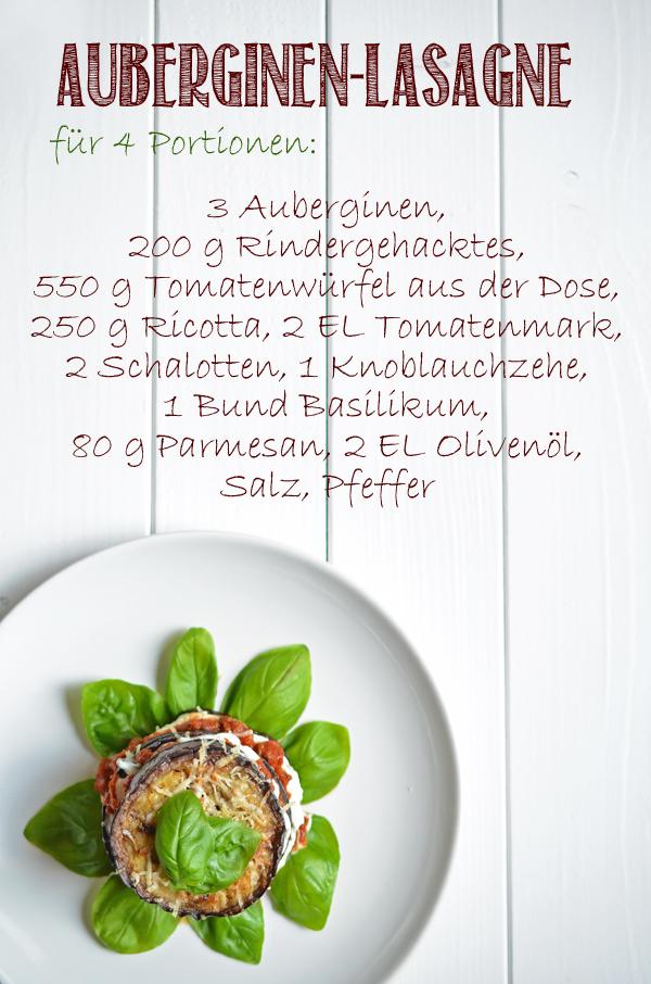 Rezept für Auberginen-Lasagne ohne Nudelteig