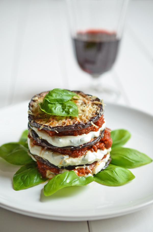 Soulfood: Auberginen-Lasagne - dazu ein mittelkräftiger Rotwein