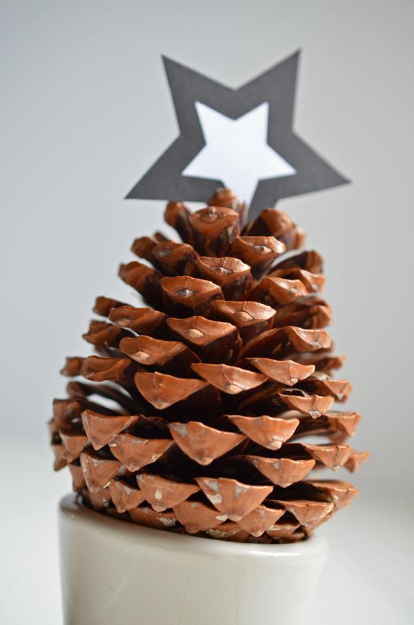 Schnelle Weihnachtsdeko mit Tannenzapfen