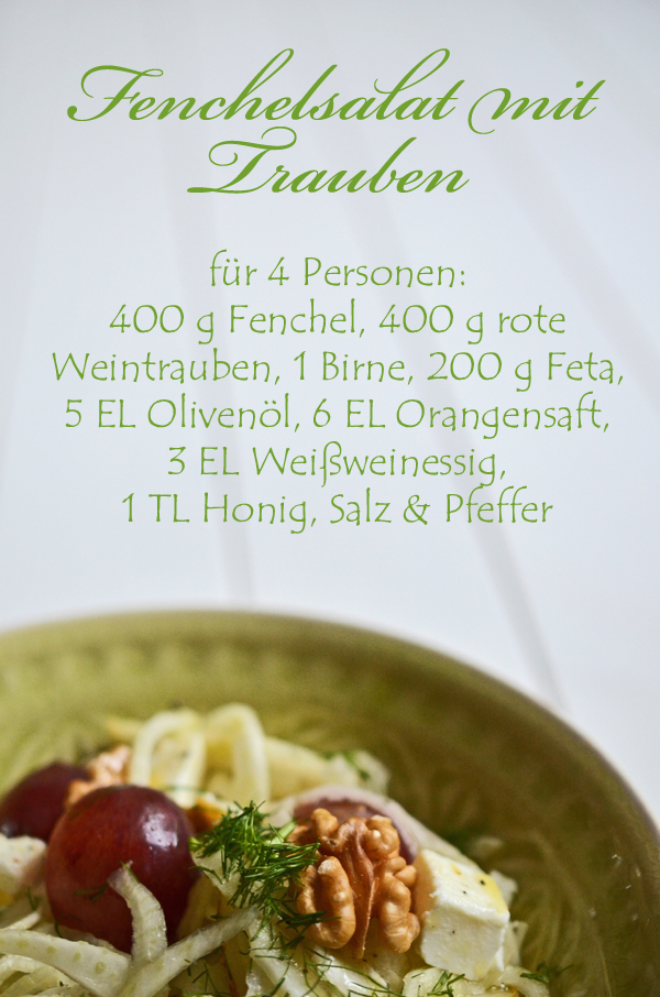 Rezept für Fenchesalat mit Trauben und Schafskäse