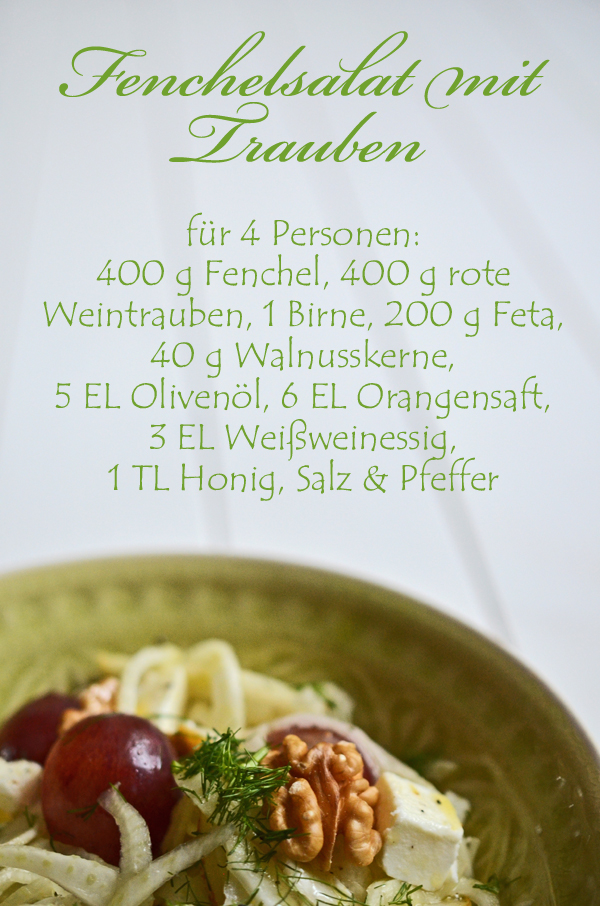 Rezept Fenchelsalat mit Trauben