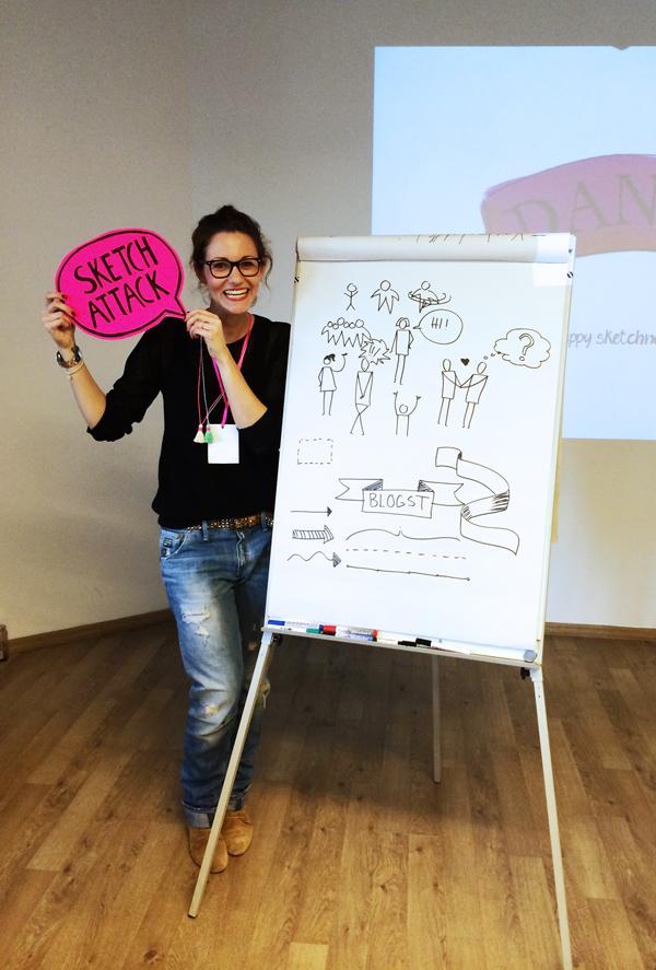 BLOGST Barcamp 2014 in Köln - Sketch Attack mit Frau Hölle