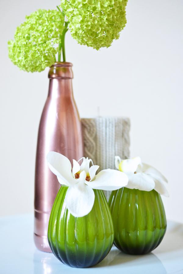 Upcycling: Selbstgemachte Kupvervase aus Wasserflasche