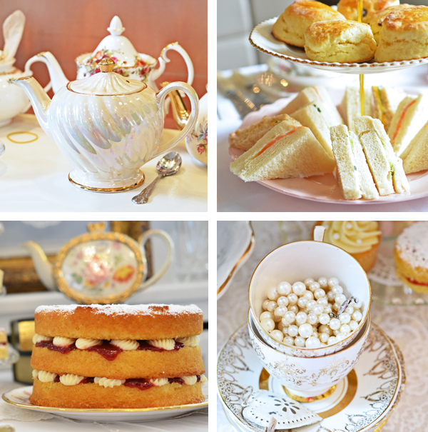 Bone China Porzella und Victorian Sponge Cake für die Tea Party