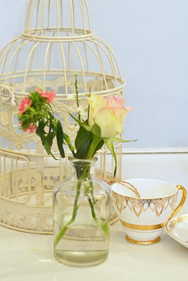 Dekoration für die Vintage Tea Party