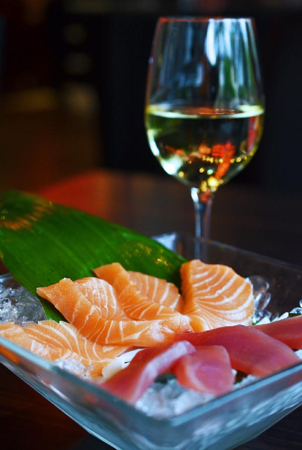 Sashimi in der Tokyo Lounge, Düsseldorf