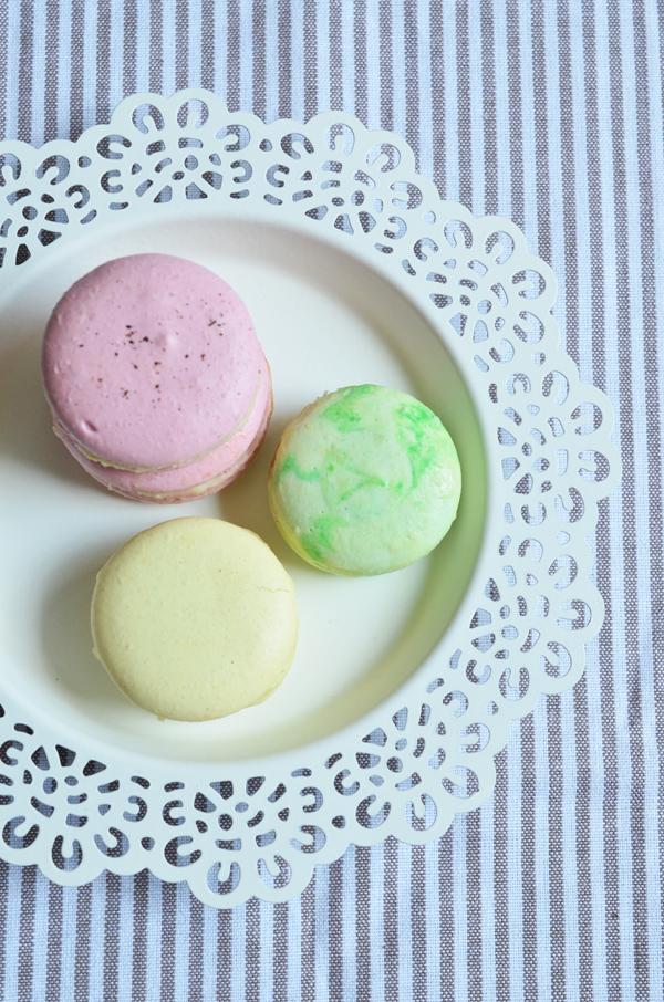 Selbstgebackene Macarons