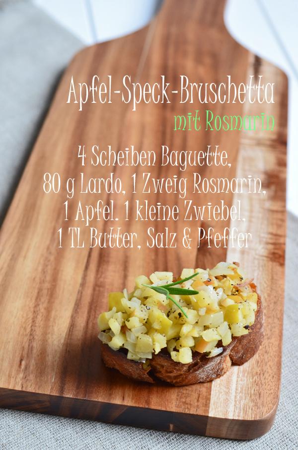 Rezept für Apfel-Speck-Bruchsetta