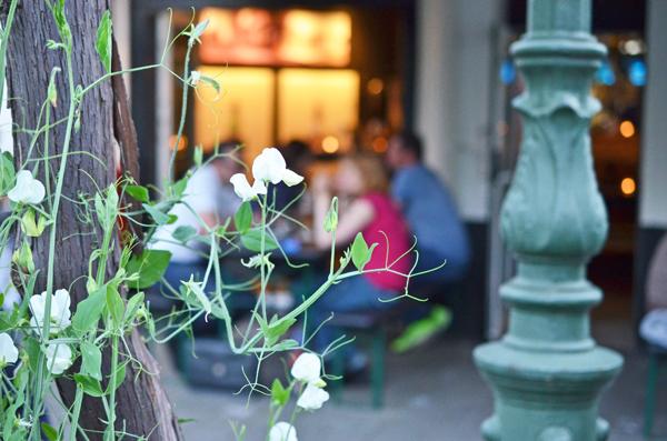 Sommerabend im Restaurant Oktopussy in Düsseldorf