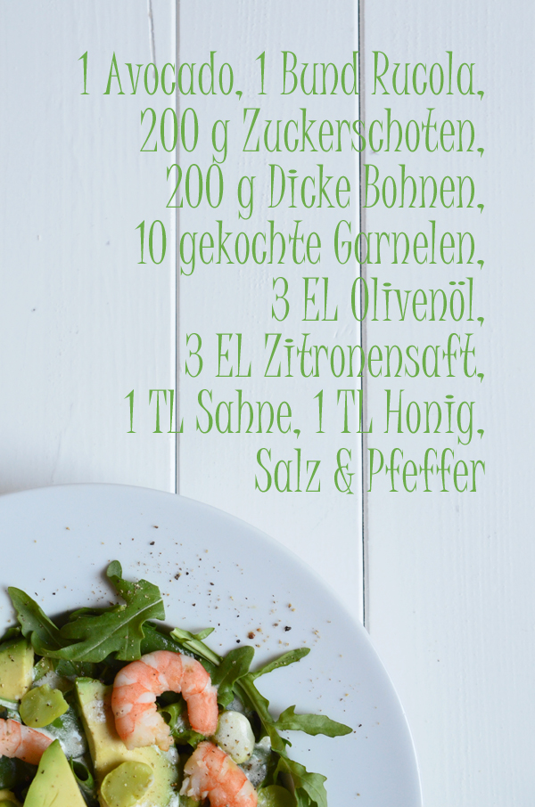 Rezept Sommemrsalat mit Garnelen und Zitronendressing