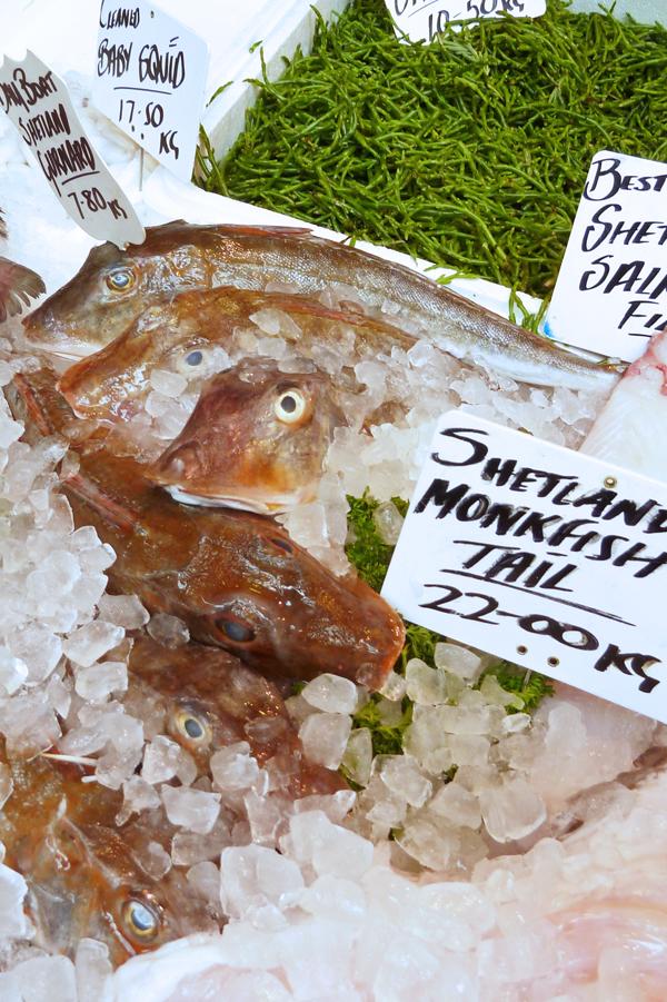 Fisch auf dem Londoner Borough Market